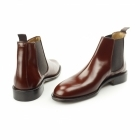John White CHELSEA Mens Polished Leather Welted Sole Boots Tan Brown