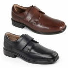 Padders RICHARD Mens Leather Wide Touch Close Shoes Brown