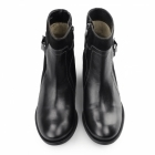 Hush Puppies FONDLY NELLIE Ladies Leather Suede Ankle Boots Black