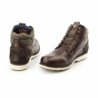 Wrangler GROVE Mens Leather Tweed Lace Up Boots Mahogany