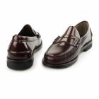 Carvelos JUAN Mens Leather Penny Loafers Bordo