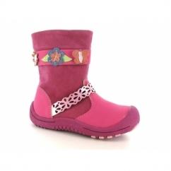 HELENA Girls Side Zip Winter Boots Pink