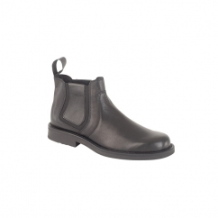 ALEXANDER Mens Leather Chelsea Boots Black