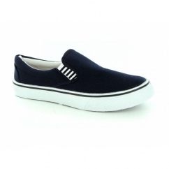 Womens Canvas Yachting Deck Shoes Navy