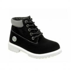 AVENGER Boys 5 Eyelet Ankle Boots Black