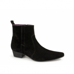 OLIVIER Mens Suede Winklepicker Boots Black
