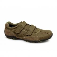 DEREK Mens Casual Velcro Trainers Tan