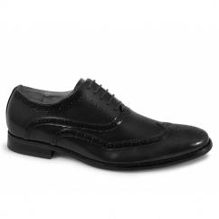 GEORGE Mens Brogue Oxford Shoes Black