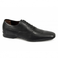 CAPULET Mens Leather Brogue Shoes Black