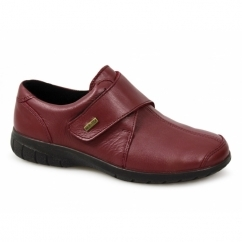 CRANHAM Ladies Waterproof Velcro Shoes Dark Red