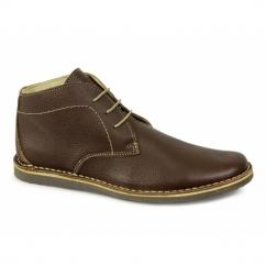 NOMAD Mens 3 Eyelet Gravado Desert Boots Brown