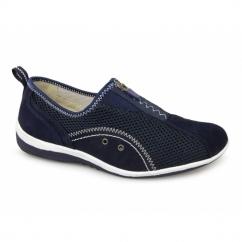 KIMBERLEY Ladies Centre Zip Mesh Leisure Shoes Navy