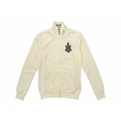 LUXE VELOUR TT Ladies Full Zip Sweatshirt White