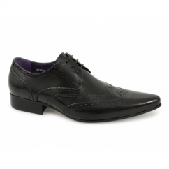TAMINO Mens Leather Brogue Formal Shoes Black