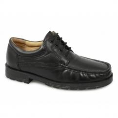 DANE Mens Lace-Up Apron Gibson Shoes Black