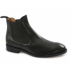 MONTGOMERY Mens Leather Chelsea Boots Black
