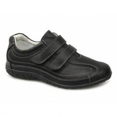 SABRINA Ladies Extra Wide EEE Fit Velcro Shoes Black