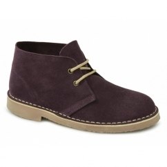 ORIGINAL Unisex Suede Leather Desert Boots Bordeaux