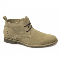 ROSCOE Mens Suede Leather Desert Boots Sand