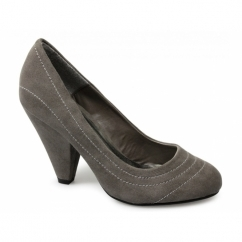 MINERVA Ladies Faux Suede High Heels Shoes Mink