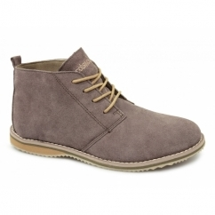 SNOWHILL Unisex Suede Comfy Desert Boots Taupe