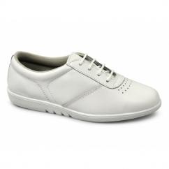 TREBLE Ladies Leather Leisure Oxford Shoes White