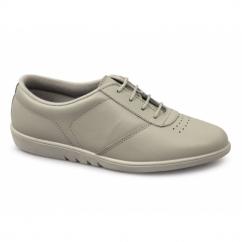 TREBLE Ladies Leather Leisure Oxford Shoes Beige