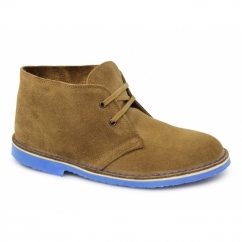 FINN Mens Suede Leather Desert Boots Sand