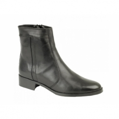 RILEY Mens Leather Ankle Boots Black