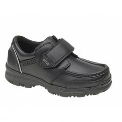 MARVIN Boys Velcro Bar Casual School Shoes Black