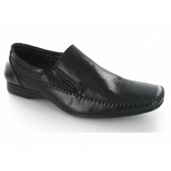 Mens Slip On Chisel Toe Office Shoes Black
