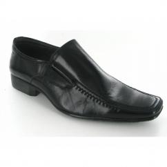 Mens Slip On Chisel Toe Shoes Black