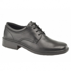 LYLE Mens Leather Office Waterproof Gibson Shoes Black