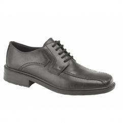 DENNIS Mens Leather Waterproof Tramline Shoes Black
