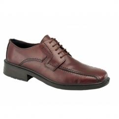 DENNIS Mens Leather Waterproof Tramline Shoes Brown