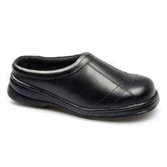 FS93C Ladies S1 SRC Slip-On Safety Shoes Black