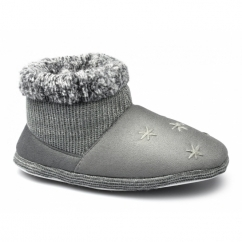 RIGA Ladies Nordic Bootie Slippers Grey