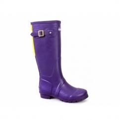 HIGHGROVE Ladies Zip Wellington Boots Purple