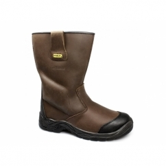 ASHLAND Mens S3 Waterproof Safety Rigger Boots Brown