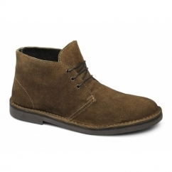 LENNY Mens Suede Leather Desert Boots Tan