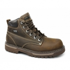 COOL CAT BULLY II Mens Oily Leather Boots Brown