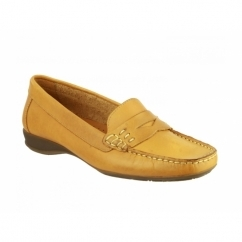 COATES Ladies Leather Penny Loafers Tan