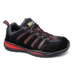 LYNN M557AS Unisex SB SRA Safety Trainers Black/Red