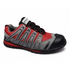 FS35C Mens Metal Free Composite Safety Trainers Red/Grey