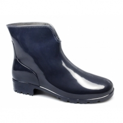Ladies Ankle Wellington Boots Navy