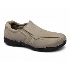 JOEY Mens Faux Nubuck Slip-On Shoes Stone