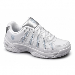 TEMION II Ladies Leather Tennis Running Trainers White
