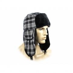 FASHION TRAPPER Ladies Winter Hat Glitter Checked Black