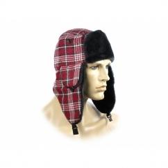 FASHION TRAPPER Ladies Winter Hat Glitter Checked Red