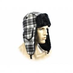 FASHION TRAPPER Ladies Winter Hat Glitter Checked White